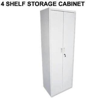 180cm 4 Adjustable Shelves Steel Storage Cabinet