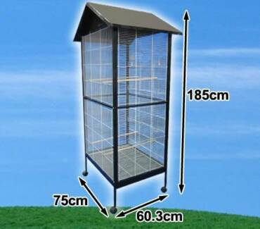 185cm Tall Large Stand-Alone Bird Cage with Apex Roof & Wheels Wantirna South Knox Area Preview