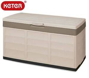 305L Keter Indoor/Outdoor Lockable Storage Box - Beige Wantirna South Knox Area Preview