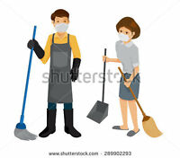Husband and Wife Cleaning team