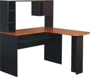 L Shaped Desk and Hutch
