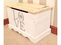 Solid Pine Shabby Chic LOVE Ottoman***ONLY £59***
