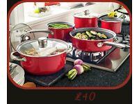 5 Piece Pan Set + FREE Colander.