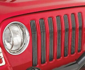 Smittybilt - Billet Grille Inserts Bar Style  Jeep 07 - 17
