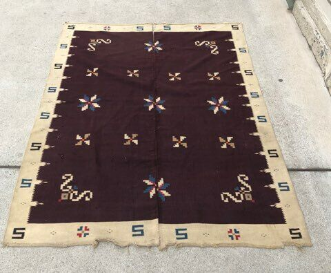 ANTIQUE NATIVE AMERICAN NAVAJO NAVAHO INDIAN WOVEN RUG BLANKET TEXTILE WEAVING