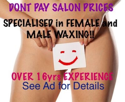 SHERLOCK house of WAXING! Over 16yrs PROFESSIONAL EXPERIENCED