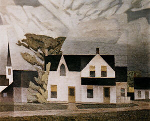 """Limited Edition """"Village House"""" Lithograph by A.J. Casson"""
