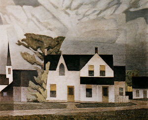 "A.J. Casson ""Village House Light Green"" Litho appraised at $750"