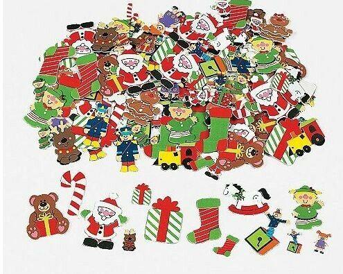 20 Santa Workshop Christmas Foam Stickers Scrapbooking