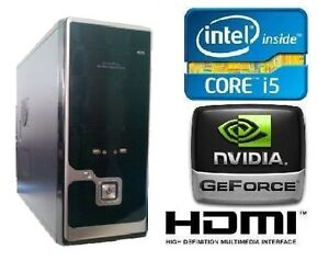 New Computer NVIDIA Gaming Intel Core i5 2500 3.30GHz 4GB 1TB GT520 1GB DDR3 PC