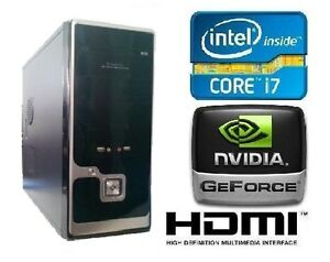 New Computer NVIDIA Gaming Intel Core i7 2600 3.40GHz 8GB 1TB GT520 1GB DDR3 PC