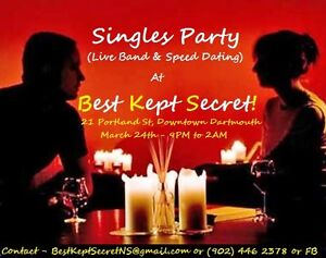 Big Singles Party with Speed Dating on March   th plus Live Band Kijiji