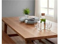 Ikea Oak Dining Table & Benches - MÖCKELBY & SKOGSTA - £430 RRP - Heavy-quality Oak - Perfect Combo
