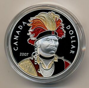 2007 LIMITED EDITION ENAMEL THAYENDANGENEA COIN West Island Greater Montréal image 1