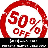 1/2 Price Pro Calgary Painting - Cheapest Professional Painting!