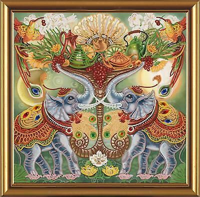 Fülle Elefant Stickpackung mit Perlen Stickset Stickbild Bead embroidery kit 162