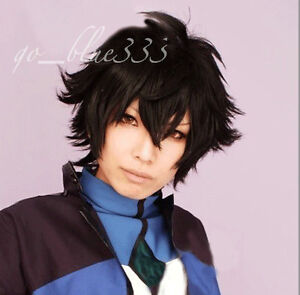 TT 330 Anime Cosplay Short Black Layered Hair Wig