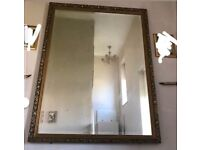 1m by 1.3m vintage style mirror