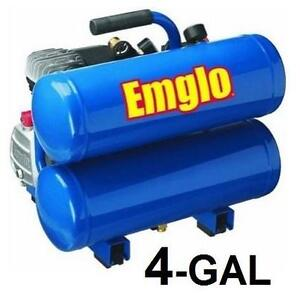 NEW EMGLO CONTRACTOR AIR COMPRESSOR 4-Gallon Heavy Duty Oil Lube Stacked Tank - Power AIR Tool 105904669