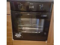HOTPOINT SH83CKS Electric Oven (Black) and G640SX Gas Hob (Stainless Steel)