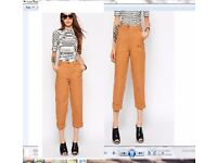 ASOS High Waisted Culottes, size 10