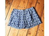 Light blue & white shorts - size 14/16