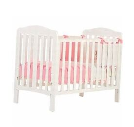 Babies R Us Roma Cot in White