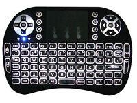 Brand New Backlit UK Wireless Keyboard ideal for USB Flat Screen TV's Computers and Kodi