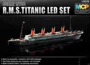 Brand New ACADEMY 1/700 R.M.S TITANIC LED SET Plastic Ship Model Kit ACA-14220