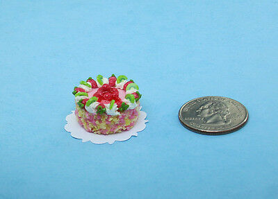 SALE! 1:12 Dollhouse Miniature Fabulous Strawberry Cake for your Bakery #S072B