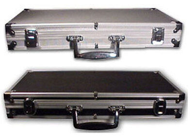 500 Count NEW Aluminum CHIPS Carrying / Storage CASE Sturdy Holds Poker Chips *