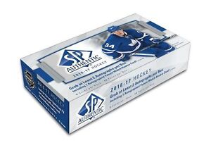 16-17 Upper Deck SP Authentic Hockey Now Available @ Breakaway