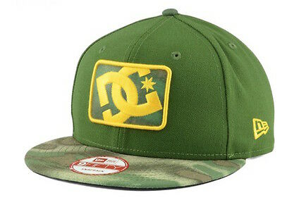 "60% OFF! DC Shoes ""BuzzCut"" Snapback Cap (Olive/Camo) NEW Unisex Adjustable Hat"