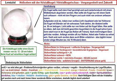 Lerntafel Kristallkugelschau Kristallkugel Wahrsagekugel Zukunft deuten Orakel