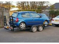 Car trailer twin axle braked good tyres