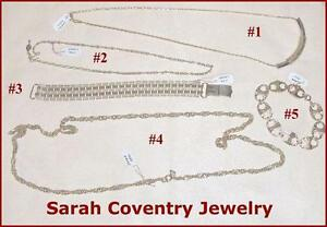 Sarah Coventry Jewellery Group of Vintage Chains and Bracelets