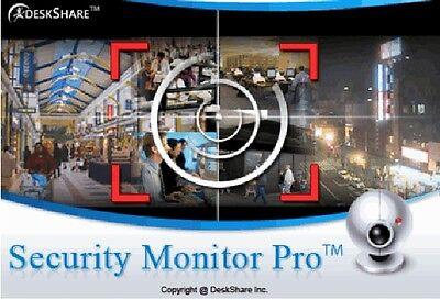 Security Monitor Pro Professional Video Surveillance Software  4 Cameras CCTV