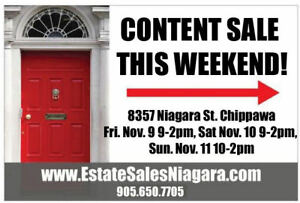 3 day sale! 8357 Niagara St. Chippawa