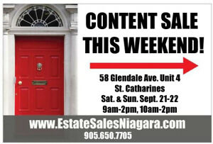 Executive Townhome Contents Sale this weekend!