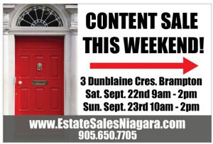 HUGE Estate Sale – Everything must go this weekend!