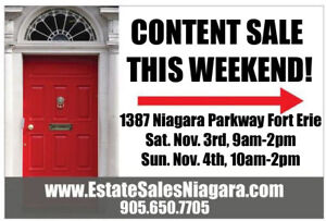 40 years of collectibles Estate Sale in Fort Erie!