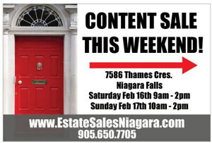 Great Estate Sale this weekend in Niagara Falls!