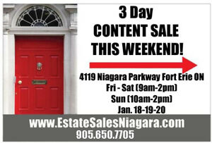 HUGE 3 DAY Estate Sale this Weekend 4119 Niag Parkway Fort Erie