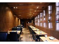 Luxury quality Japanese restaurant looking for Sushi and hot food chef!!
