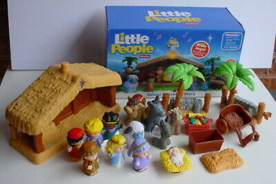 Fisher-Price Little People DELUXE CHRISTMAS STORY Nativity Set COMPLETE WORKS +