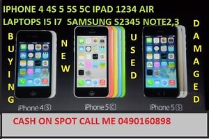 iPhone 3GS 3 4 4s 5 5c 5s 6 6+ iPads 1234air laptopsi5i7 cashonspot Smithfield Parramatta Area Preview