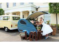 Vintage Mobile Teardrop Caravan Bar Business For Sale - One of a kind!
