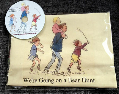 WE'RE GOING ON A BEAR HUNT Story Sack & Teaching Resources CD