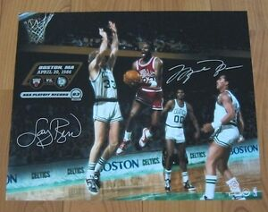 MICHAEL-JORDAN-LARRY-BIRD-Signed-63-Point-16-x-20-Photo-LE-63-UDA