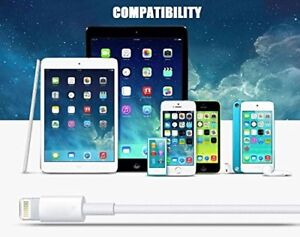 Iphone Lightning USB charger/Data Cable 5-Pack 3ft/1m